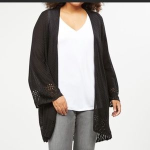 NWT Lane Bryant Wide Sleeve Textured Overpiece